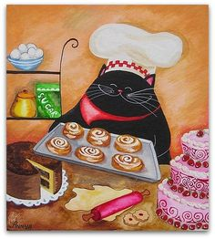 Art Symphony: Cats and food by Annya Kai