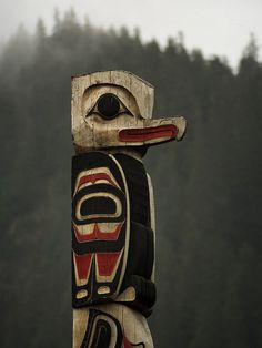 The Haida are an indigenous people of British Columbia, Canada -----Haida art-- totem pole Arte Tribal, Tribal Art, Native Art, Native American Indians, Art Paintings, Watercolor Paintings, Le Totem, Haida Art, Art Premier