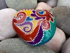 Dreaming of gypsy wagons / seaside carnival / love at the fair / painted rocks / painted stones / Sandi Pike Foundas / love from Cape Cod