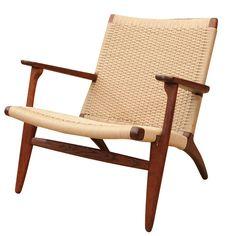 hans wegner for carl hansen & son ch-25 lounge chair   hans wegner