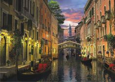 Davison: Venedig ved aftentide, 3000 brikker puslespil!