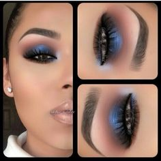 If I ever had the guts..maybe ill do this kind of smokey one day.. smokey electric blue right?