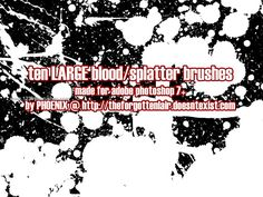 Blood 27 - Download  Photoshop brush http://www.123freebrushes.com/blood-27/ , Published in #BloodSplatter, #GrungeSplatter. More Free Grunge & Splatter Brushes, http://www.123freebrushes.com/free-brushes/grunge-splatter/ | #123freebrushes