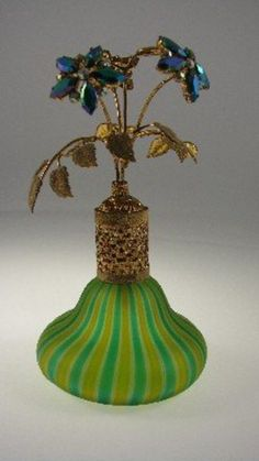 Perfume Bottle, Jewel Top