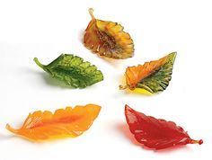Woodland Leaves by Michael Cohn, Molly Stone: Art Glass Sculpture available at www.artfulhome.com