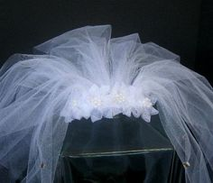 bachlorette veil, bachlorette party veil, bridal shower veil,  shower veil, veil for bride to be part, bridal shower accessory, tulle veil by SuspendedStar on Etsy