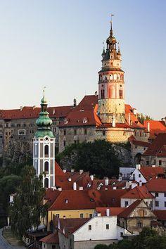 ✯ Round Tower at Cesky Krumlov Castle - Czech Republic