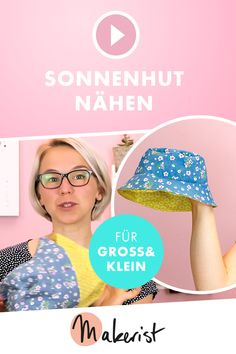 Sew the sun hat Learn to sew sun hats from woven goods for children and adults in video form in Makerist& sew Baby Hut, Learn To Sew, How To Make, Learning Games For Kids, Knitted Headband, Sewing Accessories, Summer Hats, Sewing For Kids, Sun Hats