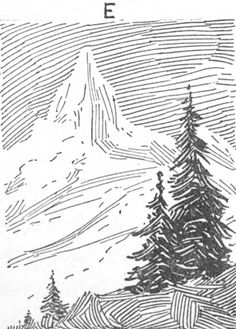 Step EE StylesofPenLining Drawing in Pen and Ink : Techniques for Pen Drawing Zentangle, Texture Drawing, Ink Pen Drawings, Ink Pen Art, Cross Hatching, Landscape Drawings, Ink Illustrations, Drawing Techniques, Gravure