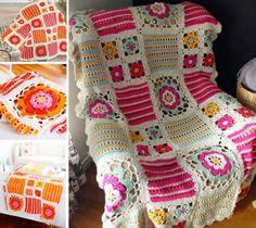 Orange Blossom Crochet Blanket Free Pattern