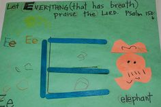 Letter E Scripture {And DIY Animal Puzzles}