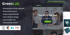 GreenLab Multipurpose Email Template . GreenLab is Multipurpose email Template like Corporate Business, Agency, Creative, Blog, Magazine, Retail, Photographer, Artist,Designer, Freelancers and much more. Responsive layout with well Structured
