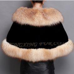 501.1  Aliexpress.com  Acheter Cx b m 05d 2015 hiver fourrure de renard Cape  Poncho mariée femmes robe de mariée châle Cape acquises manteau de fourrure  de ... 0da4b61cf43