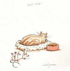 Original artwork by children's book illustrators and beautiful children's books, available to buy online and in our Bedford gallery shop. Anita Jeram, Cat Drawing, Children's Book Illustration, Cat Art, Illustrations Posters, Illustrators, Sketches, Cartoons, Drawings