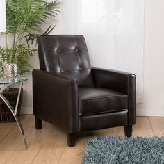 Comfortable style Recliner Chair in Chocolate Brown Microfiber
