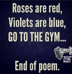 Who needs romance? Gym humor