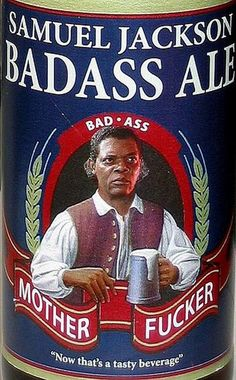 Samuel Adams has nothing on the new Samuel Jackson brew ; Samuel Jackson, Jackson Bad, Funny Signs, Funny Jokes, Hilarious, Funny Sarcastic, Cultura Pop, Funny As Hell, The Funny
