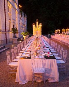 Romantic views from the head of the table as featured in Grace Ormonde Fall/Winter 2018 issue. Outdoor Wedding Reception, Tent Wedding, Wedding Ceremony Decorations, Wedding Events, Wedding Styles, Wedding Ideas, Videography, Event Design, Event Planning