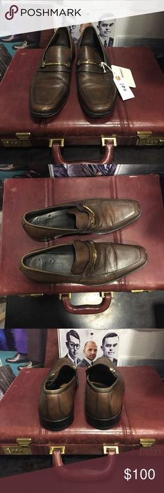Hugo Boss Men's Brown Leather Loafers 9 Excellent Preowned condition. - Rich Mbariket, upscale men's shop in Las Vegas Hugo Boss Shoes Loafers & Slip-Ons