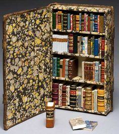 miniature bookshelf