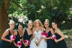Maddy + Bridesmaids - Posy Supply Co. Bouquets of Peony and Roses