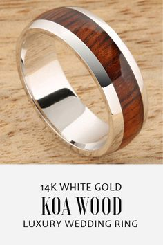 Generous and Elegant Classic Style. High Quality Resin Cover all Around the Ring.Men,Women size available White Gold Wedding Bands, Wedding Rings, Outfit Des Tages, Style Classique, Wedding Men, Wedding Ideas, Wood Rings, Dream Ring, Elegant