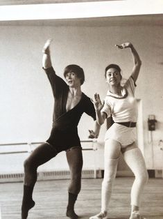 Margot Fonteyn and Rudolf Nureyev in rehearsal… clowin' around… (have fun errry day)