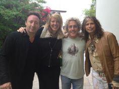 Julian Lennon, Roger Daltrey, and Steven Tyler