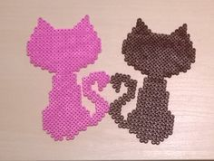 Cute cats perler beads by Szilvi