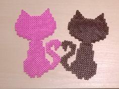 Cute cats perler beads by Szilvi
