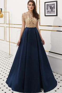 A-Line Prom Dresses Stunning Sheer and High Neckline Rhinestones Chiffon - LeShine Bridal - Prom Dresses Formal Evening Party Cocktail Homecoming Dresses - Plus size dresses - Junior Homecoming Dresses, A Line Prom Dresses, Prom Dresses With Sleeves, Formal Dresses For Women, Wedding Dress Sleeves, Simple Dresses, Bride Dresses, Wedding Dresses, Gala Dresses