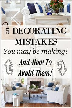 Eeek! You could be making big decorating mistakes right now that are making your home look cluttered and messy! See how you can avoid making them with these 5 useful decor tips and examples of rooms that show you just how these mistakes can be corrected! Great decorating tricks!