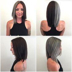 """WEBSTA @ bridgetkrane - Super fun """"split-dyed"""" hair on the beautiful @swizzlemelarky #hairbybridgetkrane #kenzosalon #splitdyedhair @kenzo_salon"""