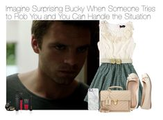 """""""Imagine Surprising Bucky When Someone Tries to Rob You and You Can Handle the Situation"""" by xdr-bieberx ❤ liked on Polyvore featuring Yumi, Aéropostale, Gucci, Uncommon and Yves Saint Laurent"""