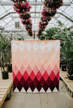 Triangle Quilt Pattern  Modern Quilt Pattern  Beginner Quilt | Etsy