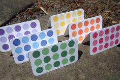 Mini Rainbow Sparkle Polka Dot Cards - set of 6 - Gift Enclosure Cards - FREE SHIPPING