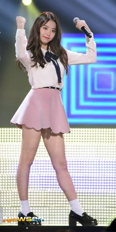Kim So Hye (Former member of IOI) J Pop, Kpop Girl Groups, Kpop Girls, Sexy School Girl Costume, Kim Doyeon, Pre Debut, Stage Outfits, Korean Celebrities, Hot Dress