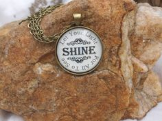 Let Your Light Shine for All to See Isaiah 60:1 Bible Verse Necklace Charm Pendant Necklace by SweetBirdieBlessings on Etsy
