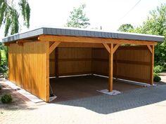 Wooden Carport Ideas In The Backyard