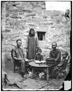 A poor Chinese family living in Kowloon Hong Kong (1869), highly likely at Tokwawan