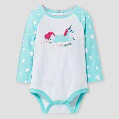 Baby Girls  Long-Sleeve Unicorn Bodysuit Baby Cat  amp  Jack™ - White 89035abfc
