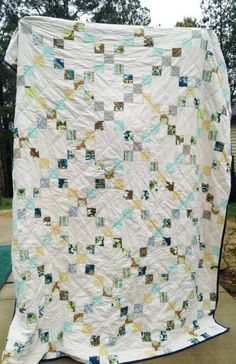 Irish Chain Quilt You choose Size and color by southerncharmquilts, $189.00