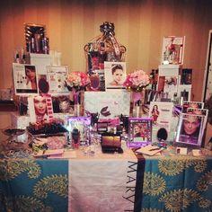 My Mary Kay Bridal Display at the Sheraton Balto North Bridal Show!