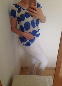 Kup mój przedmiot na #vintedpl http://www.vinted.pl/damska-odziez/koszulki-z-krotkim-rekawem-t-shirty/17828261-biala-zwiewna-niebieskie-grochy-zara-woman-s-m