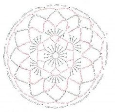 Redecilla bailarina a crochet Ballet snood chart for AG, I used worsted weight yarn, a G hook and I repeated row 5 several times until it seemed large enough for my purposes. Crochet Mandala, Crochet Flower Patterns, Crochet Motif, Crochet Doilies, Crochet Flowers, Crochet Lace, Hat Patterns, Crochet Instructions, Crochet Diagram