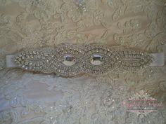 GREAT GATSBY GARTER Vintage 20s Luxury Crystal Wedding Bride Rhinestone Glam 22
