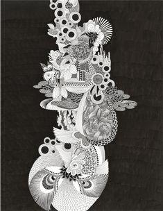 宇宙シリーズ/PECHU の画像 黒い金魚と白い象