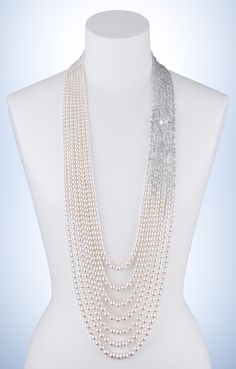 Milky Way by Mikimoto diamonds and pearls...oh my... yes please just imagine this on a black gown...to die for !