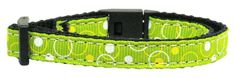 Dog Collars and Leashes - Retro Nylon Ribbon Collar Lime Green Cat Safety + Free Gift of Beautiful Pet Charm (random style) Puppy Collars, Dog Collars & Leashes, Cat Harness, Collar And Leash, Pet Clothes, Dog Photos, Puppies, Pets, Safety