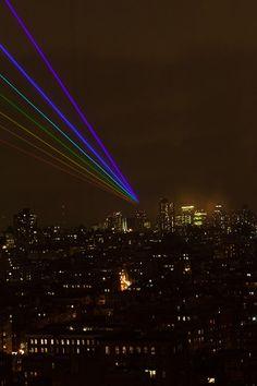 So Tron.. | A 35-Mile Laser Rainbow Illuminates New York As A Memorial To Sandy's Victims
